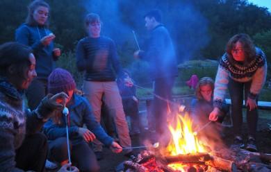 Friday evening Langidalur campfire (Celia Rio Suarez)