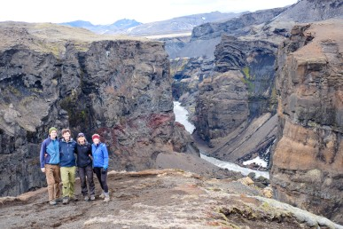 Trail survey team visiting the Markarfljótsgljúfur Canyon (Nat Gaston)