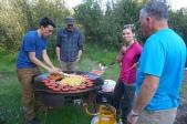 Cooking at Básar camp.