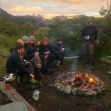 Friday evening campfire at Langidalur (Jenny Allen)