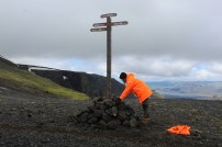 Maintenance on the Fimmvörðuháls trail