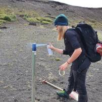 Checking numbers and repainting trail markers on Laugavegurinn (Anna Mariager)