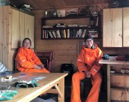 Hiding from the rain at our Langidalur hut (Nicolas Talou)