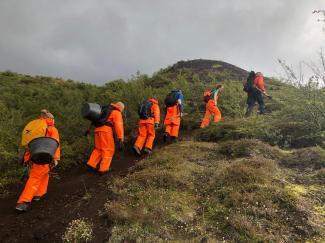 Our team heading out to work (Nicolas Talou)