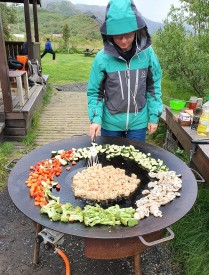 Cooking at our Langidalur camp (Anna Mariager)