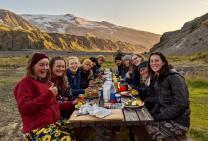 Relaxing evening after the Fimmvörðuháls hike (Ellen Halldorsson)